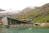 Trollstigen_104_07172019 - Looking back towards the fancy Trollstigen Cafe and Visitor Center across from a very clear man-modified pond