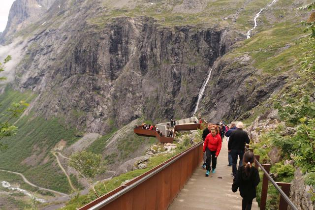 Trollstigen_150_07172019 - New walkways and steps were built over the years between our visits in 2005 and 2019 so now it appears that the trails at Trollstigen could better handle the volume of foot traffic