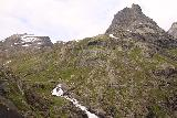 Trollstigen_186_07172019 - The top of Stigfossen seen together with Bispen and some neighboring mountains from the new Trollstigen Lookouts