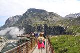 Trollstigen_280_07172019 - Walking towards the overlook right at the brink of Stigfossen