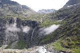 Trollstigen_282_07172019 - Looking over the brink of Stigfossen with Tverrdalsfossen in the background from the first lookout of Trollstigen