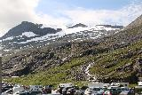 Trollstigen_300_07172019 - When we returned to the car park, we saw that there were at least a half-dozen workers directing traffic and cars stretched almost as far as the eye can see