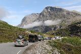 Trollstigen_316_07172019 - Looking back at the traffic jam for Trollstigen.  Good thing we weren't part of this crowd