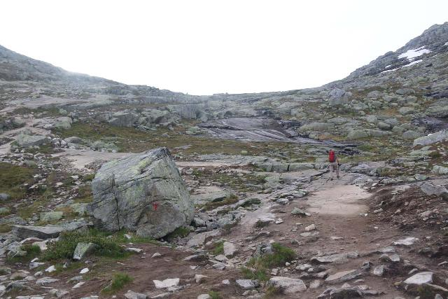 Ascending to the top of the relentless climb before the 3km marker of the Trolltunga hike