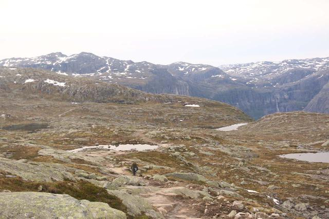 Most of the Trolltunga hike involved fairly featureless plateau hiking after a pretty long uphill stretch
