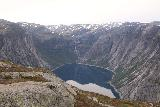 Trolltunga_206_06232019 - Direct look across the length of Ringedalsvatnet backed by Ringedalsfossen