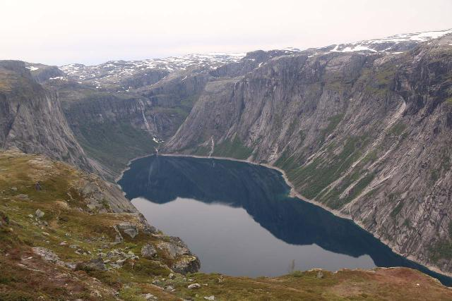 Views towards Ringedalsfossen at the head of the man-made lake Ringedalsvatnet were one of the few compelling things to see on the way to Trolltunga