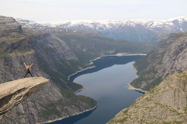 Trolltunga_440_06232019 - South of Kinsarvik was Tyssedal, where I went on a very long hike to experience the Trolltunga, which I considered to be part of the 'Tourist Trifecta' with Preikestolen and Kjerag due to their popularity with the social media crowd in recent years