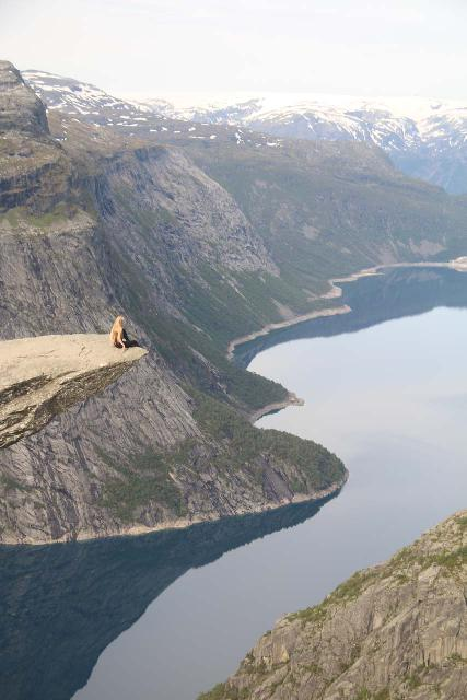 Trolltunga_448_06232019 - Further to the north of Odda in Tyssedal, I managed to do the epic hike out to Trolltunga, which was another one of what I called the 'Tourist Trifecta' that included Kjerag and Preikestolen