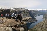 Trolltunga_471_06242019 - Lots more people looking on at the Trolltunga or the queue had grown even longer at this point