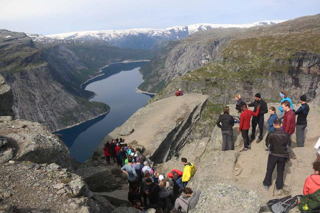 Trolltunga_491_06242019 - Perhaps the single biggest reason why Ædnafossen is as low key as it is has to be the presence of the nearby excursion to Trolltunga.  Back in 2005, I didn't remember this place being that popular nor well-known, but in 2019, you can see it definitely gained a bit of notoriety in Instagram circles as I now considered it part of the 'Tourist Trifecta' that included Kjerag and Preikestolen.