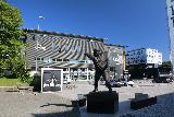 Trondheim_003_07122019 - Some statue fronting the stadium by the Scandic Lerkendal on the outskirts of Trondheim