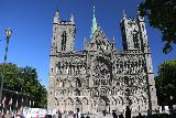 Trondheim_015_07122019 - Looking across the square fronting the front facade of the Nidaros Cathedral in Trondheim