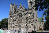 Trondheim_019_07122019 - Looking over the square fronting the front facade of the Nidaros Cathedral at an angle in Trondheim