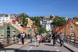 Trondheim_056_07122019 - Enjoying the Gamle Bybro with lots of other people in Trondheim
