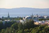 Trondheim_142_07122019 - Zoomed in view of the Trondheim Sentrum from the top floor of the Scandic Lerkendal on the outskirts of Trondheim