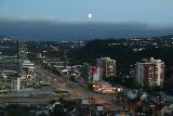 Trondheim_151_07122019 - Looking south from our hotel room at the Scandic Lerkendal as it appeared that some clouds were rolling in but still revealing a nearly full moon
