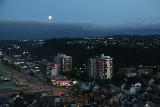Trondheim_158_07122019 - Another look towards the nearly full moon and southern end of Lerkendal on the outskirts of Trondheim