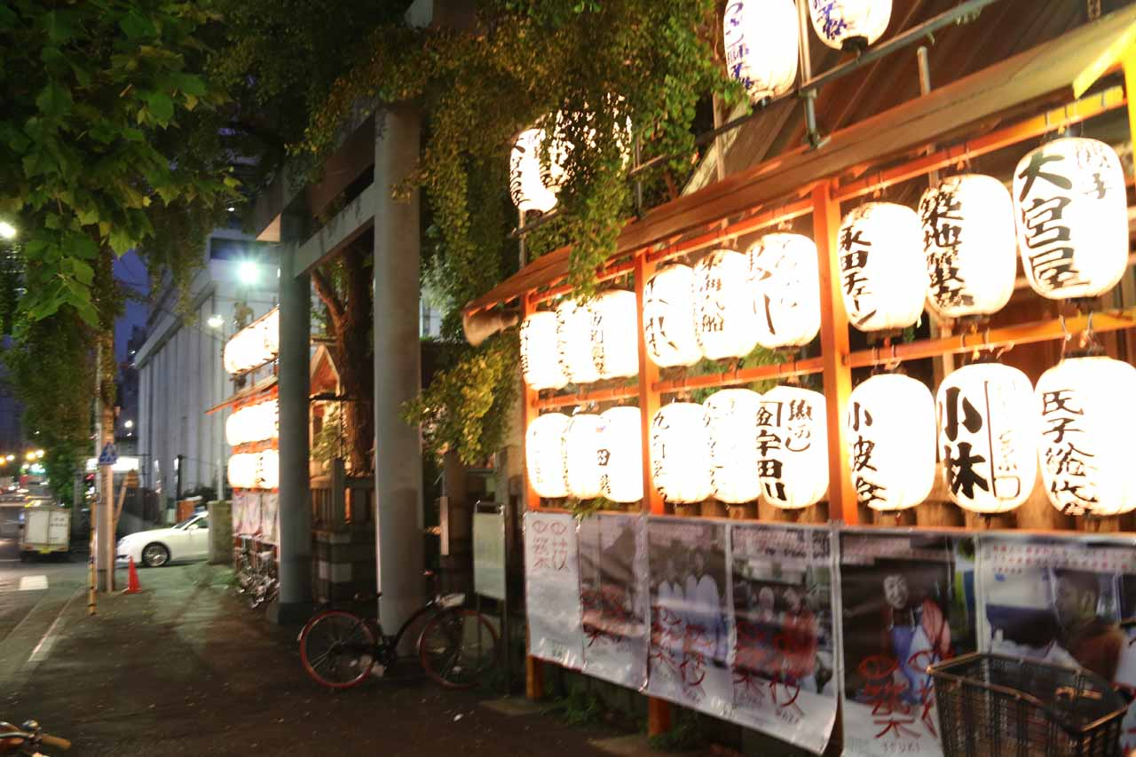 It was hard to believe that we visited the Tsukiji Market (shown here is one of the shrines there) the morning of our visit to Syasui Falls, but the falls was reachable by train from Tokyo