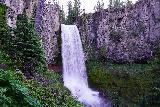 Tumalo_Falls_045_06272021 - Closeup look at the full drop of Tumalo Falls
