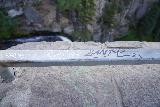 Tumalo_Falls_112_06272021 - Unfortunately, there was some graffiti around the lookout for Tumalo Falls