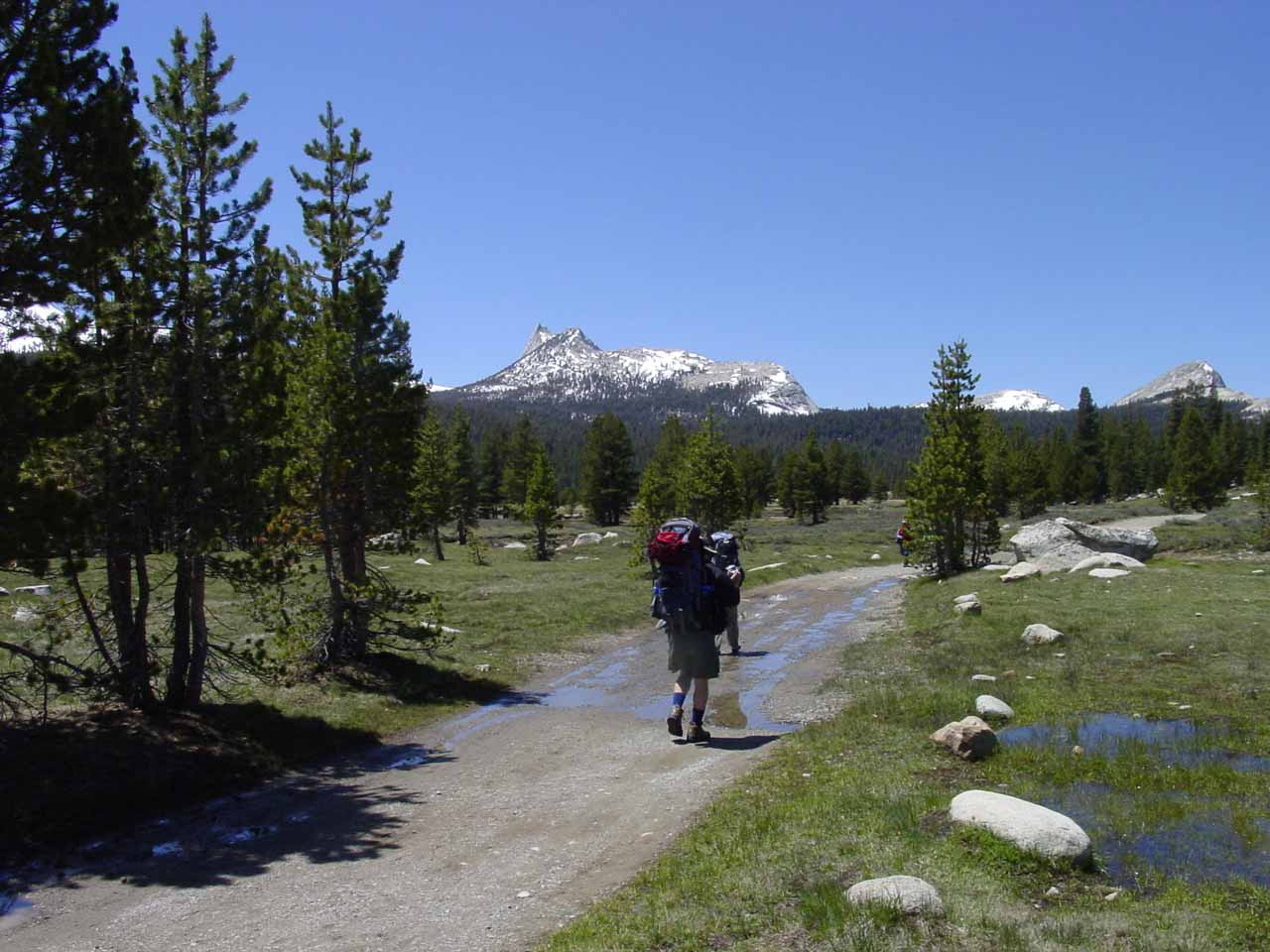 We were actually intending to backpack to the Glen Aulin High Sierra Camp, hence the large packs we were carrying