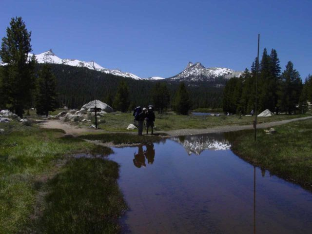 Tuolumne_Meadows_011_05292004 - On my first visit to Glen Aulin, we had backpacked there on the heels of a storm so there were reflective pools of water in Tuolumne Meadows like what's shown here