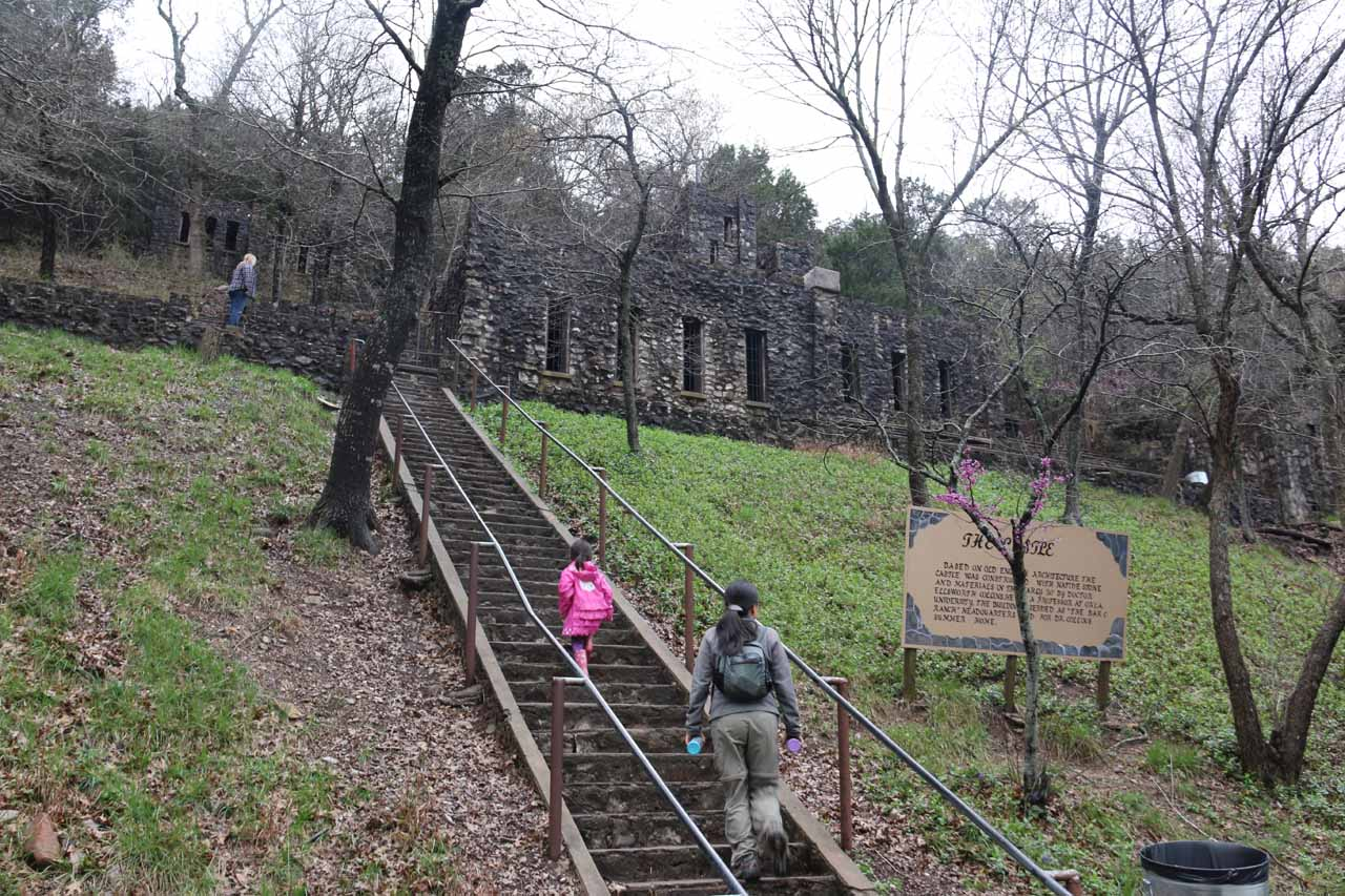 After having our fill of Turner Falls, we then headed back up through the castle and back to the rough picnic area where we parked
