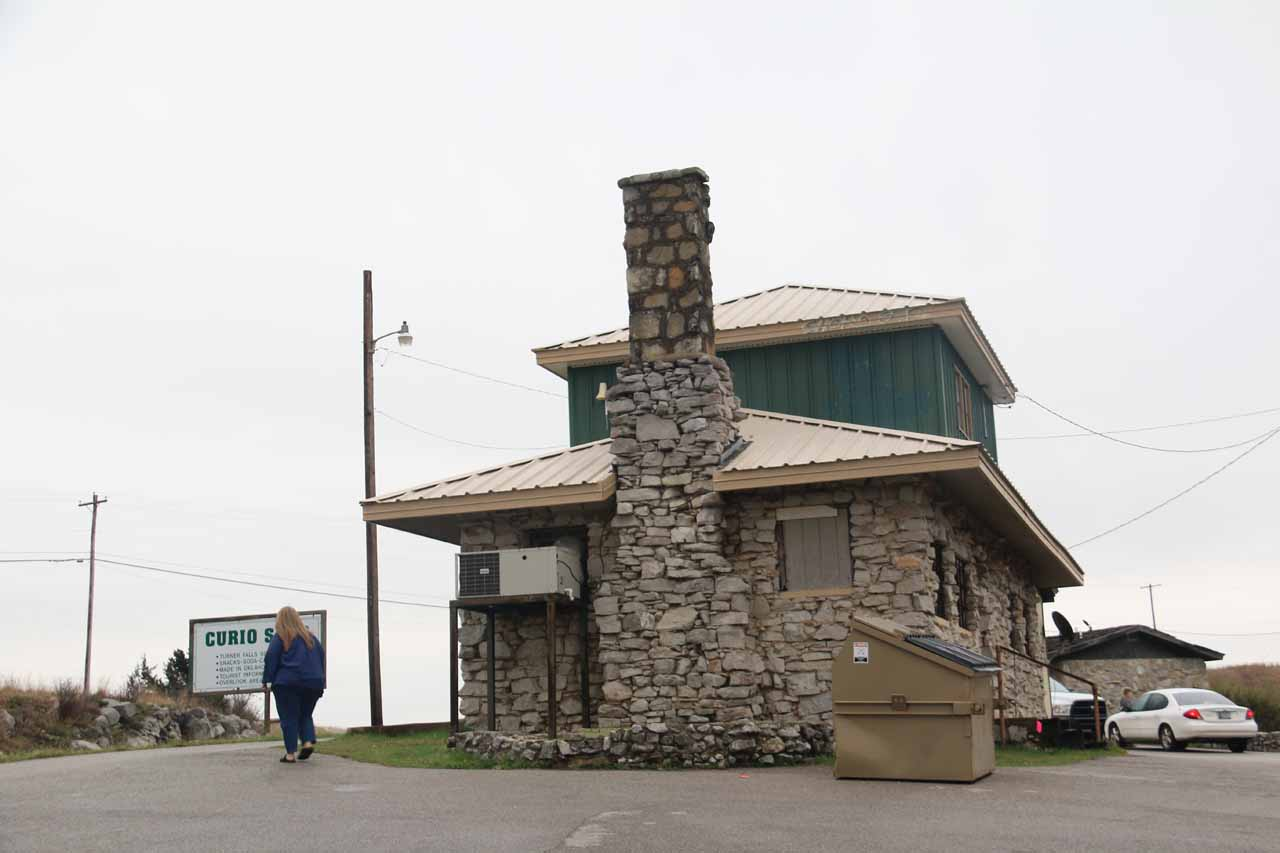 This was the curio shop where there were overlooks of most of Turner Falls Park