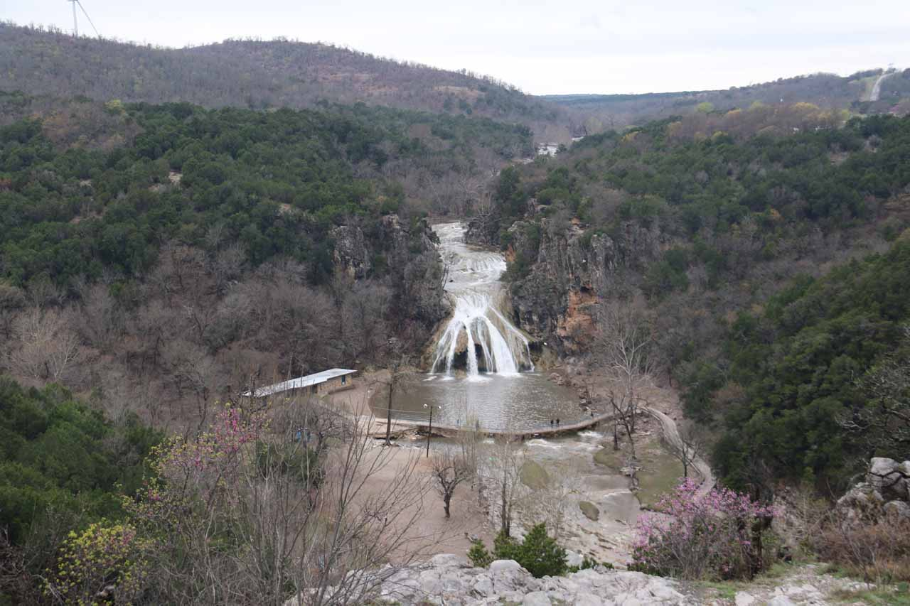 This was the panoramic view of the Turner Falls Park from a curio shop's parking lot just outside of the park