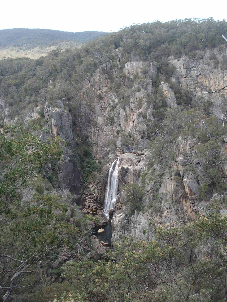 As we were approaching the lookout platform, we were already starting to see Tuross Falls