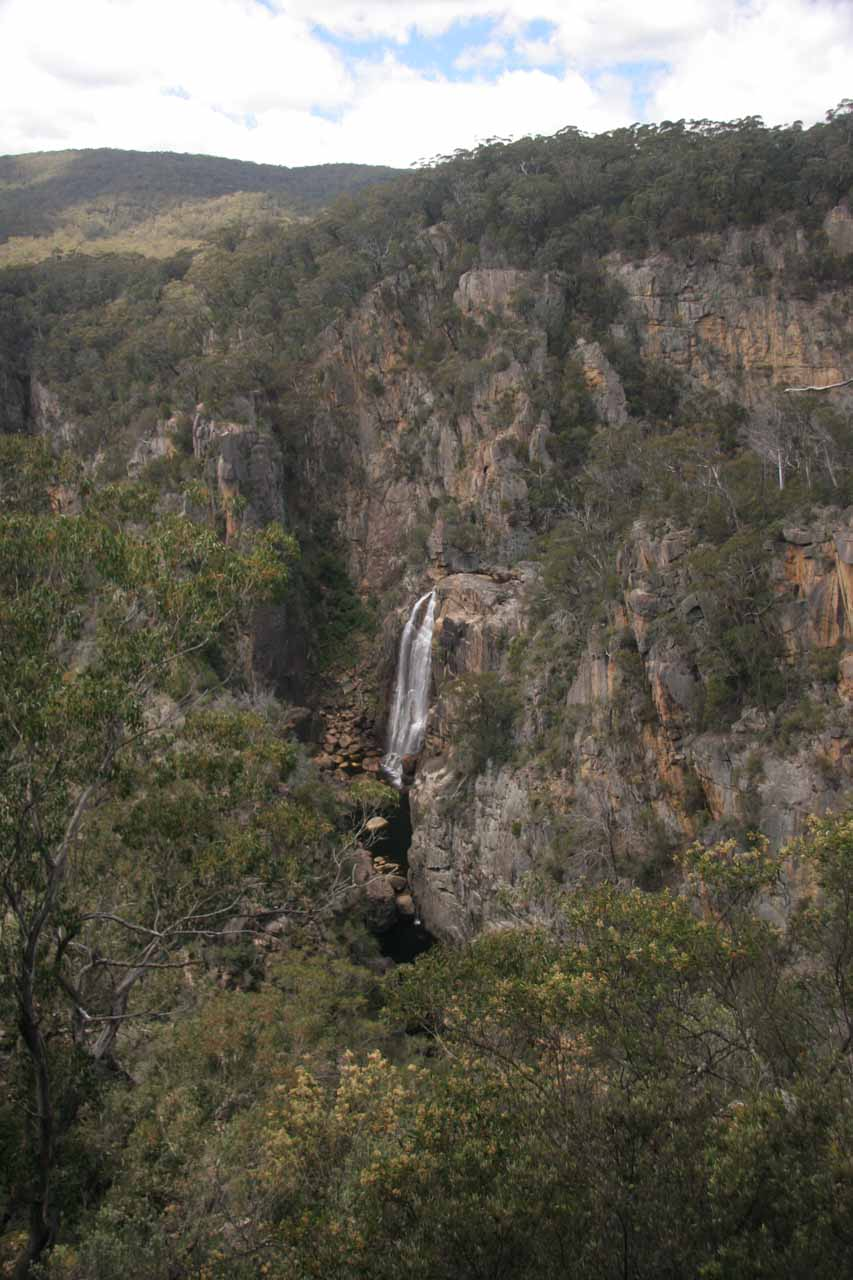 Distant view of Tuross Falls