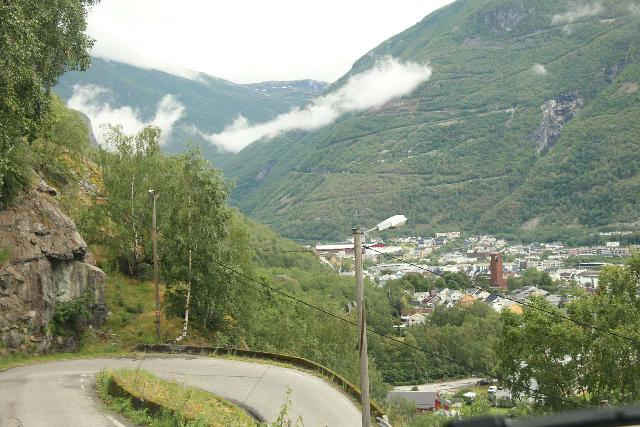 Turtagro-Over_Ardal_mtn_pass_rd_043_07212019 - Descending the switchbacking single-lane road leading into the industrial town of Øvre Årdal