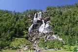 Tvindefossen_003_07242019 - About a month later in July 2019, we returned to Tvindefossen under beautiful weather.  Note that the waterfall noticeably had a little less flow than when we saw it in late June