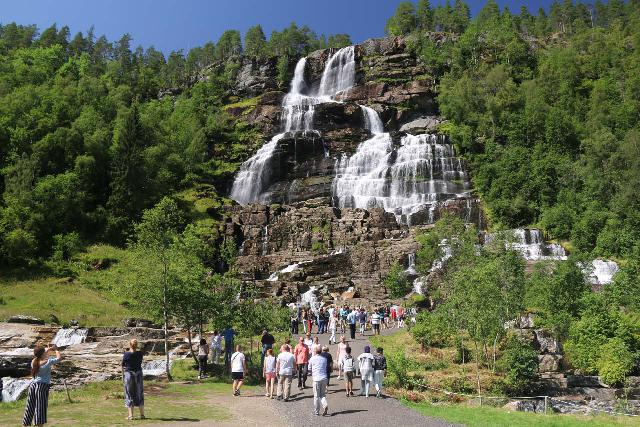 Tvindefossen_015_07242019 - Tvindefossen under beautiful weather while looking like it had a little less volume in late July 2019 versus a month earlier