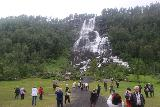 Tvindefossen_035_06252019 - Our moment of peace at Tvindefossen didn't last long, however, as quickly a pair of tour buses showed up and the people from there inundated the waterfall