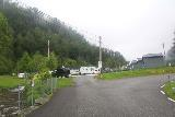 Tvindefossen_039_06252019 - Looking towards the entrance for the Tvindefoss Camping, which was right next to the car park, souvenir shop, and visiting area