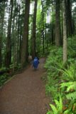 Twin_Falls_001_05262006 - Julie at the start of the lush Twin Falls Trail in rain gear since it was raining during this May 2006 visit. This photo and the rest of the photos in this gallery were taken on this day
