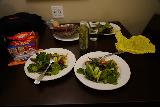 Twin_Falls_City_009_04012021 - Our Instapot hot dog and veggies dinner in our room at the Towneplace Suites by Marriott in Twin Falls