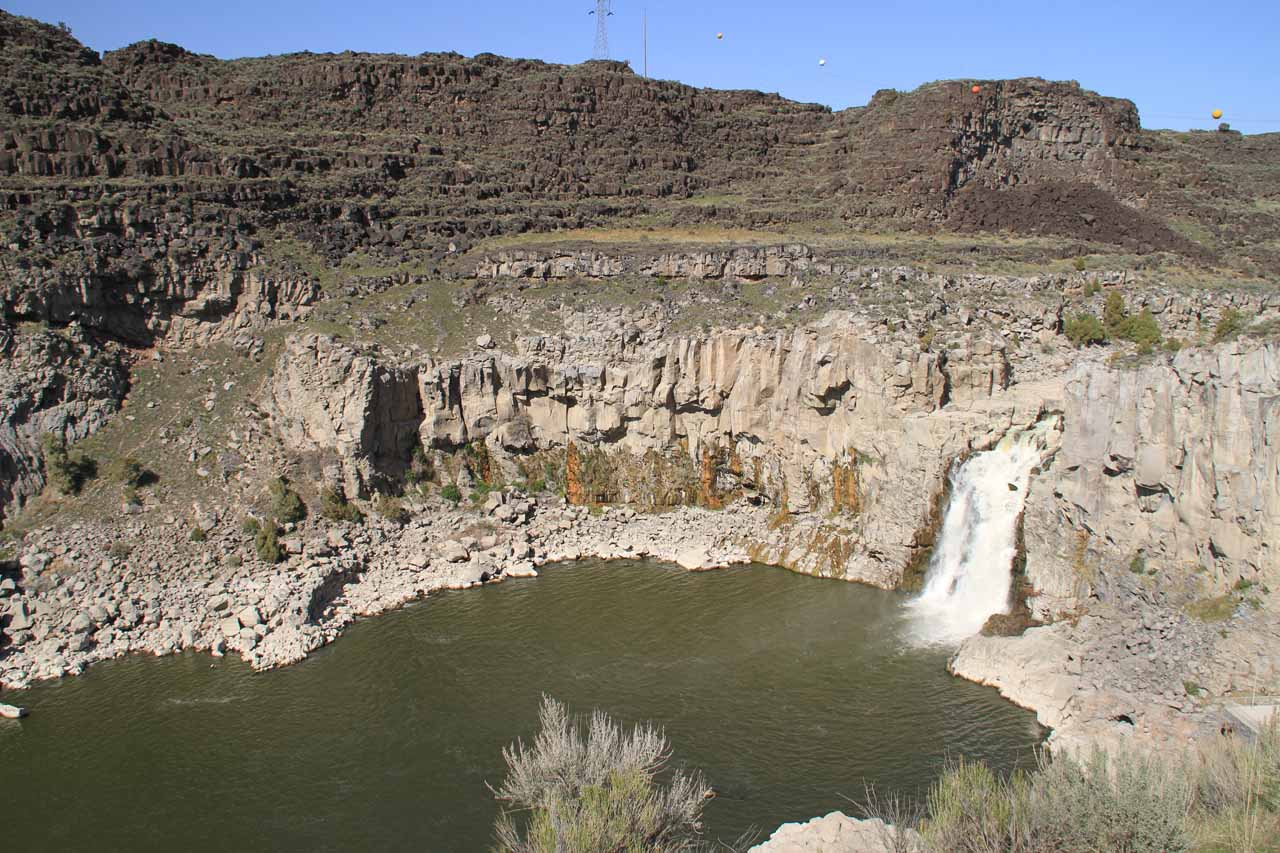 The lone part of Twin Falls that was flowing