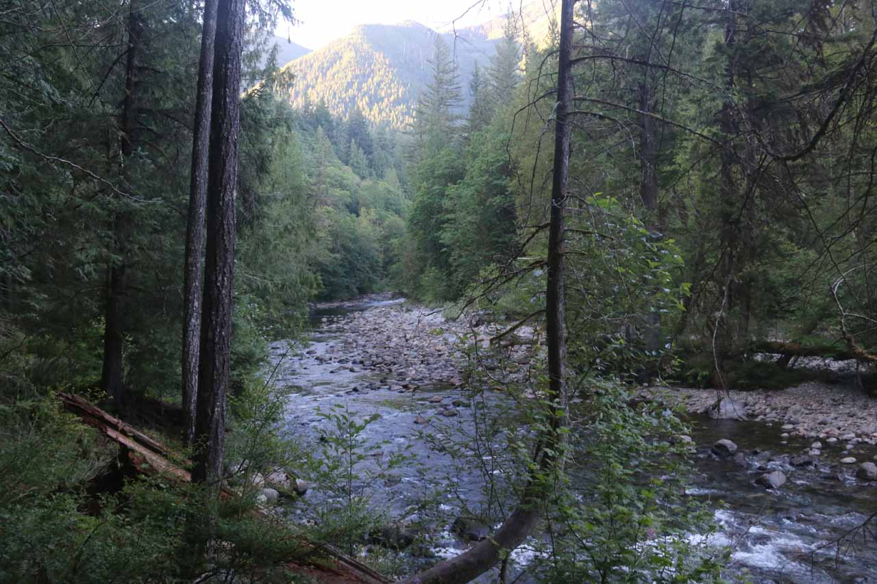 Almost immediately, the trail followed along the South Fork Snoqualmie River
