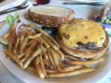 Two_Sisters_Cafe_001_iPhone_08062017 - A bison burger served up at the Two Sisters Cafe right off the US89