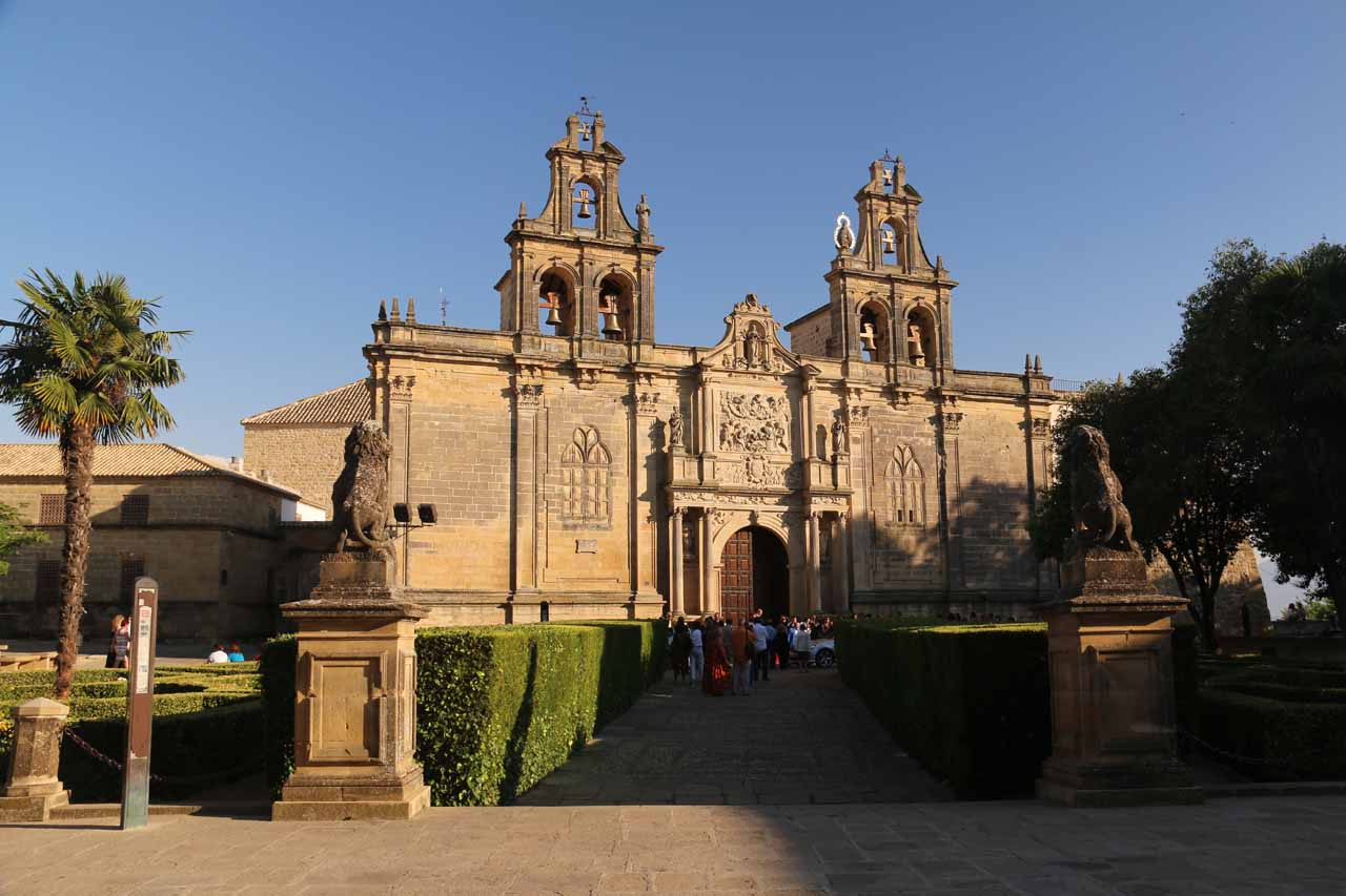 Direct look at the Santa Maria de los Reales Alcazares