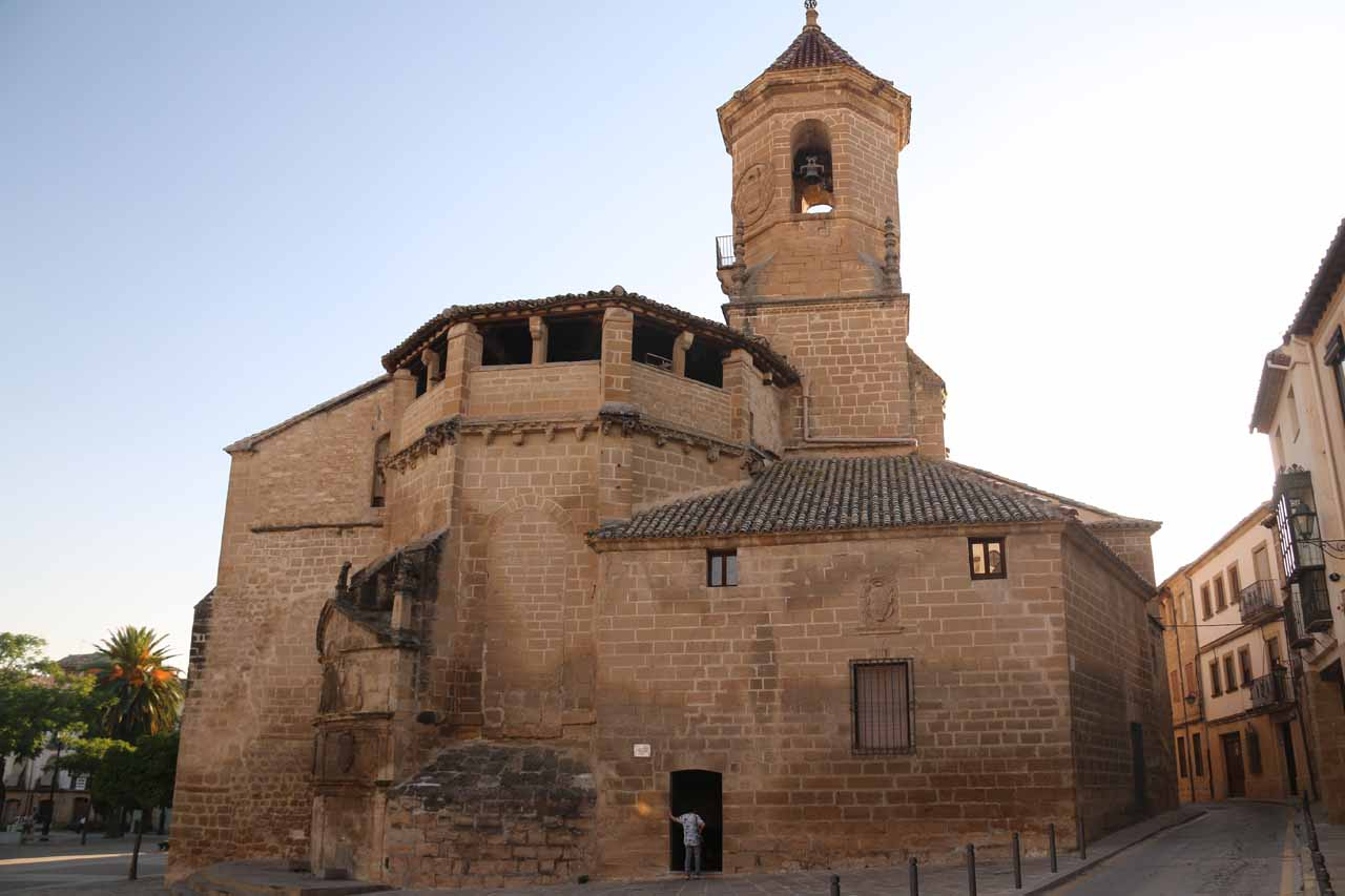 Looking towards the Iglesia de San Pablo from the Misa de 12 Restaurant