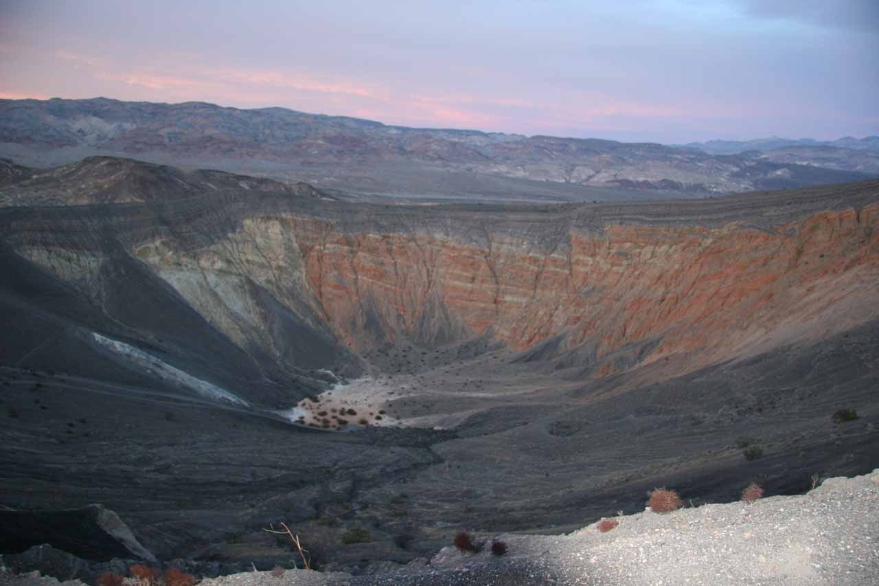Surreal look at sunset colors with the Ubehebe Crater