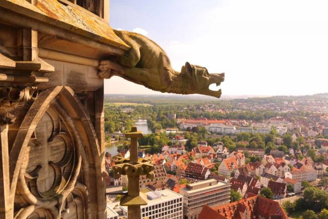 Ulm_085_06232018 - The Ulm Munster was memorable because they let you climb hundreds of stairs to get to the top for an unmatched view of the city and the neighboring mountains on a very clear day