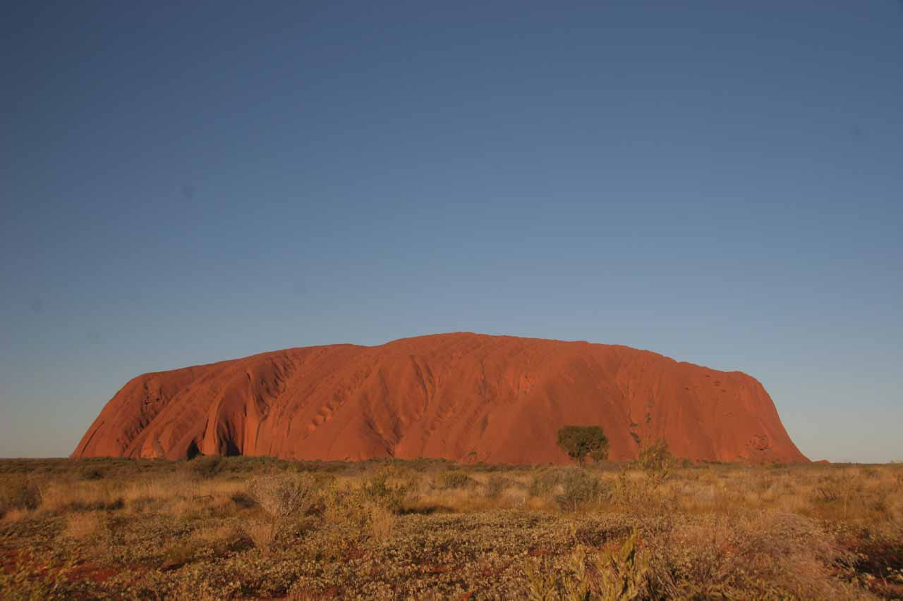 Uluru as we were waiting for the sun to set