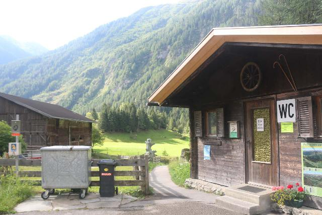 Umbal_Waterfalls_008_07152018 - The WC building at the car park at the head of the Virgental Valley at Ströden