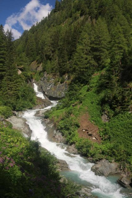 Umbal_Waterfalls_124_07162018 - Sloping cascades on the Umbalbach as seen from the trail just past the first lookout of the main Umbal Waterfalls en route to the overhanging lookouts above the actual waterfalls themselves