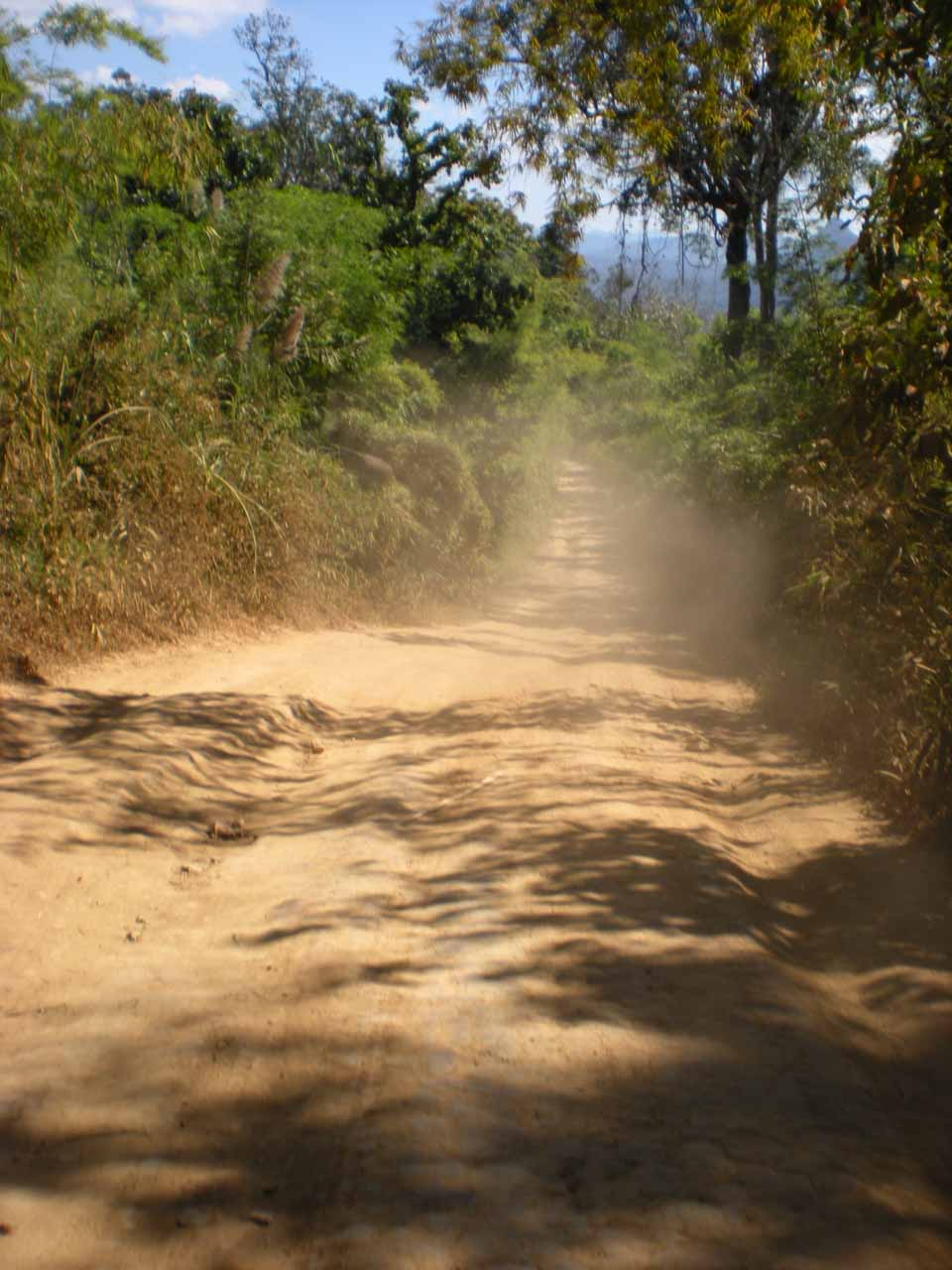 The road we had to take while riding the songthaew